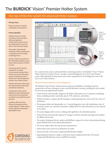 The BURDICK ® Vision ? Premier Holter System