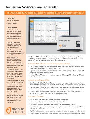 CareCenter MD Spec Sheet
