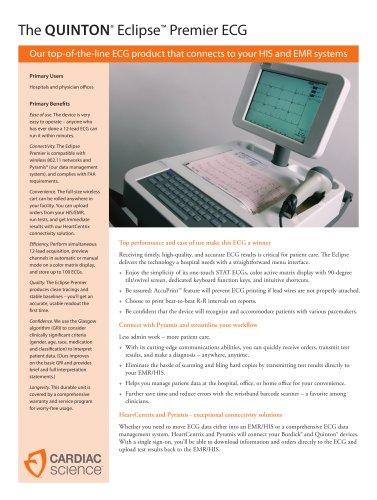 Electrocardiograph Quinton Eclipse Premier - EN