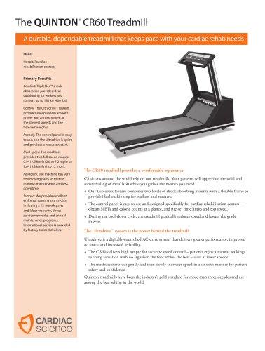 The QUINTON®  CR60 Treadmill