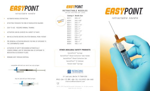 EasyPoint® retractable needle
