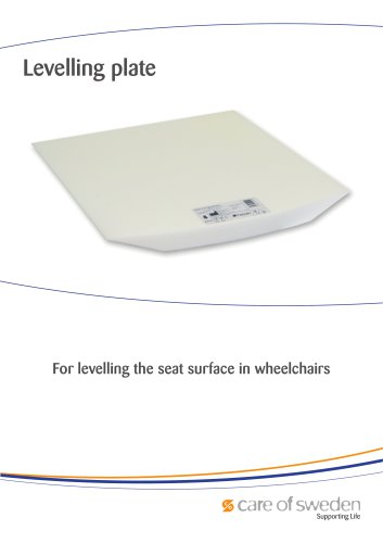 Levelling plate