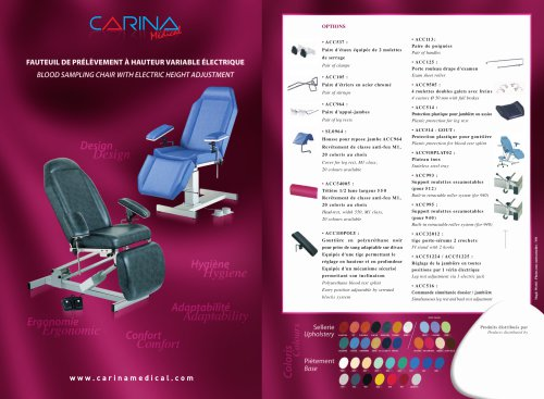 Blood Sampling Chair Electric Height Adjustment