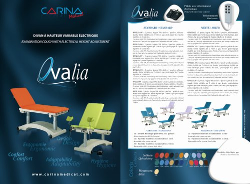 Examination Couch Electric Height Adjustment OVALIA