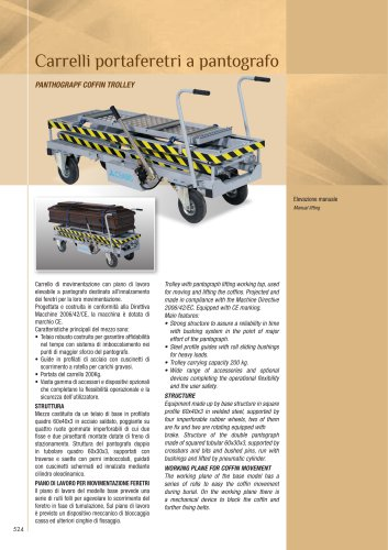 PANTHOGRAPF COFFIN TROLLEY