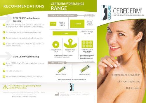 Auto-adhesive silicone dressing CEREDERM®