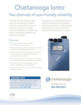 Chattanooga lonto Two channels of user-friendly reliability - 1