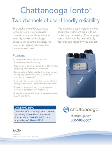 Chattanooga lonto Two channels of user-friendly reliability