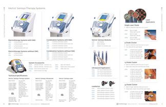 Vectra Cenisys Electrotherapy Products 2012 Catalog - 4