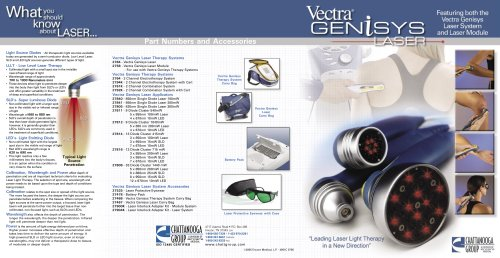 Vectra® Genisys Laser Part Numbers and Accessories