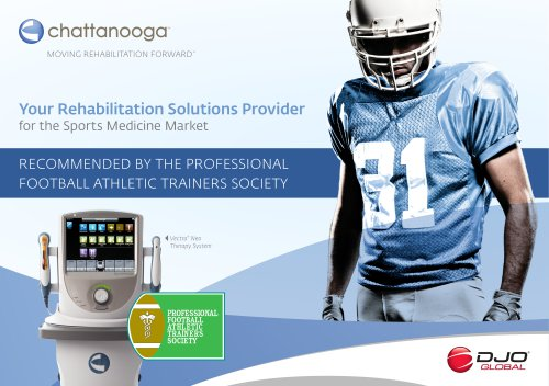 Your Rehabilitation Solutions Provider for the Sports Medicine Market