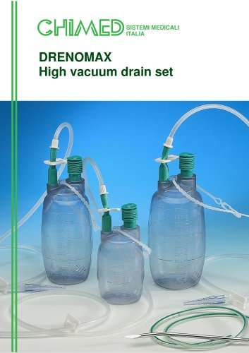 DRENOMAX High vacuum drain set