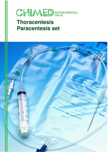 Thoracentesis / paracentesis sets with non-return valves