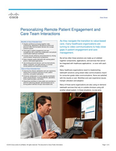 Data Sheet Personalizing Remote Patient Engagement and Care Team Interactions