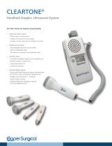 ClearTone Handheld Doppler Ultrasound System Brochure
