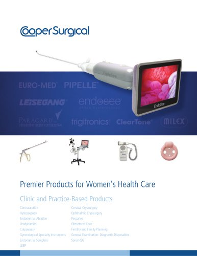 Clinic and Practice-Based Products Catalog