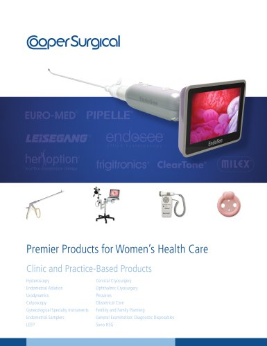 CooperSurgical Clinic and Practice-Based Products Catalog