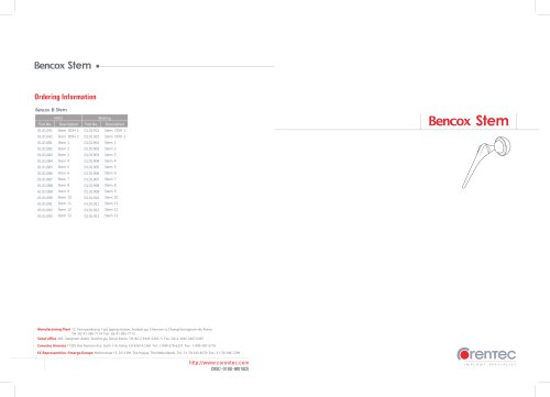 Bencox Stem