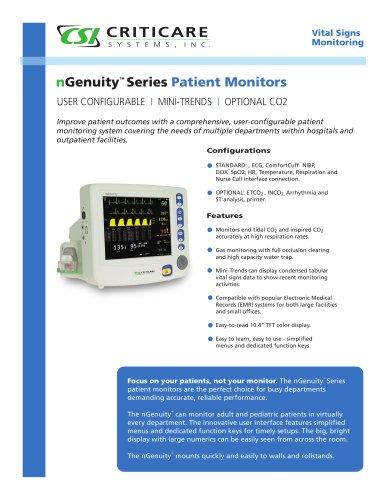 8100E nGenuity Vital Signs Monitor