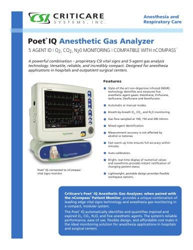 Anesthetic gas & Multiparameter monitor 8500H POET® IQ - EN