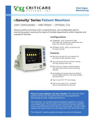 Multi-parameter monitor 8100E1 NGenuity - EN