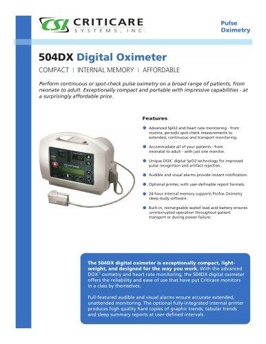 Pulse oximeter 504DX - EN