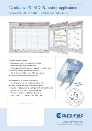 12-channel PC ECG & suction application