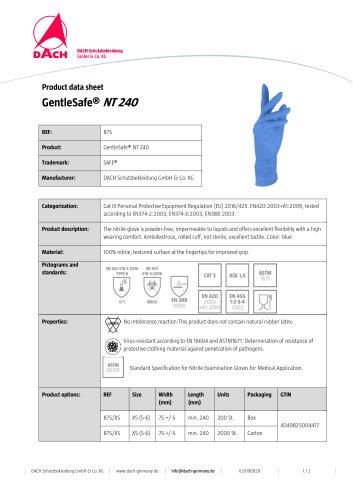 GentleSafe® NT 240
