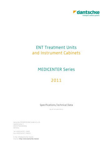 ENT Treatment Units and Instrument Cabinets