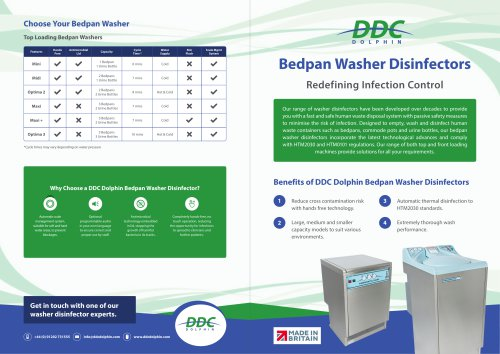DDC Dolphin bedpan washer disinfectors