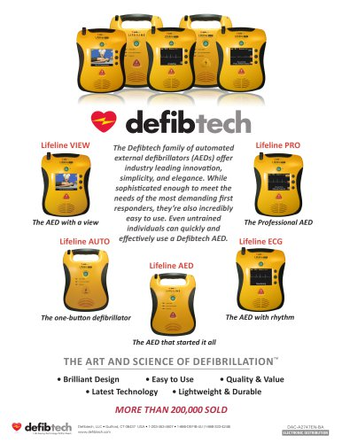 Defibtech Family of AEDs