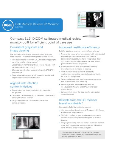 Dell Medical Review 22 Monitor MR2217