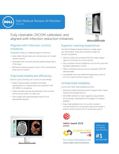 Dell Medical Review 24 Monitor MR2416