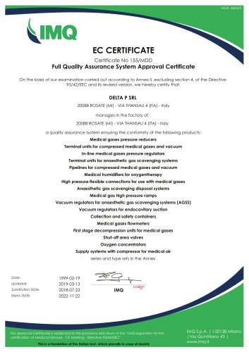 CE certification for Delta P