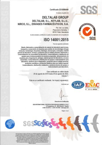 Deltalab, ISO 14001