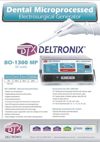 BO-1300 MP - Dental Microprocessed Electrosurgical Generator