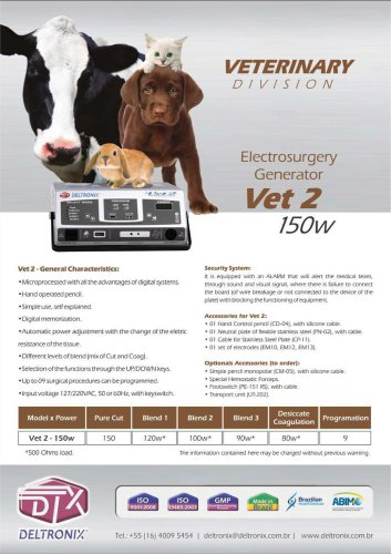VET2 - Electrosurgical Generator (Veterinarian Series)