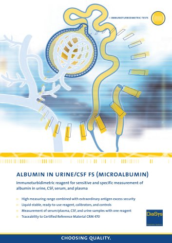 Albumin in Urine/CSF FS (Microalbumin)
