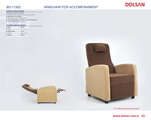 90111302 ARMCHAIR FOR ACCOMPANIMENT
