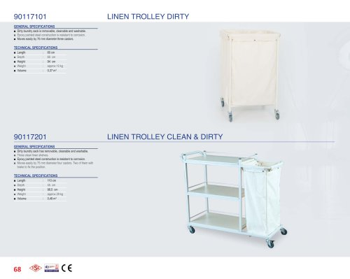 90117101, 90117201 LINEN TROLLEY CLEAN & DIRTY