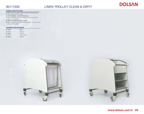 90117202 LINEN TROLLEY CLEAN & DIRTY