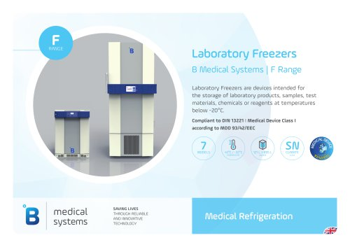 B Medical Systems Laboratory Freezers