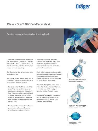 ClassicStar® NIV Full-Face Mask
