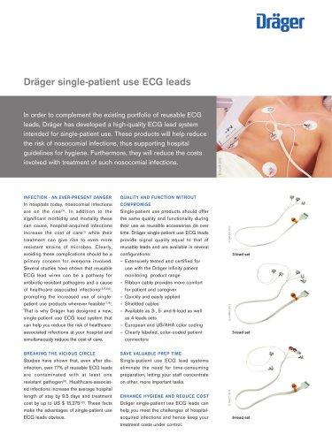 Dräger single-patient use ECG leads