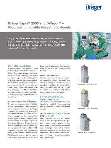 Dräger Vapor ® 2000 and D-Vapor ®old