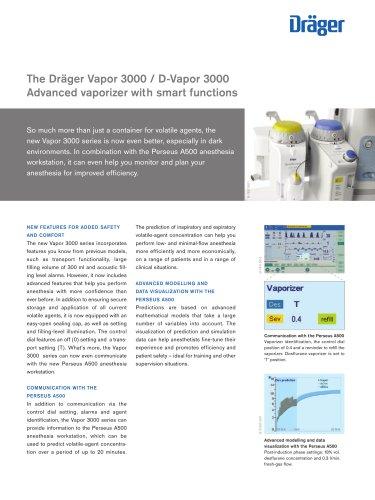 The Dräger Vapor 3000 / D-Vapor 3000