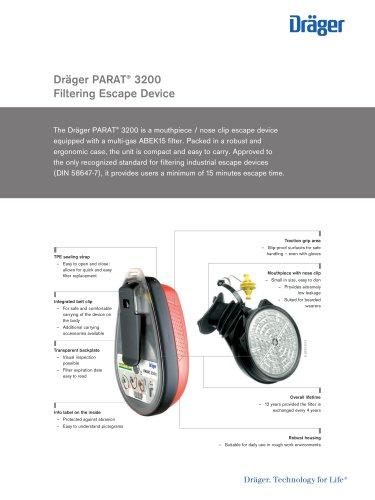 Dräger PARAT® 3200/Filtering Escape Device
