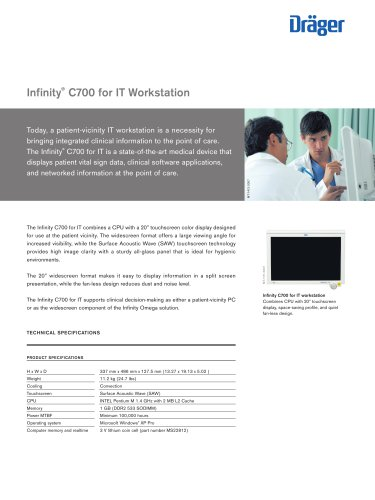 Infinity ® C700 for IT Workstation