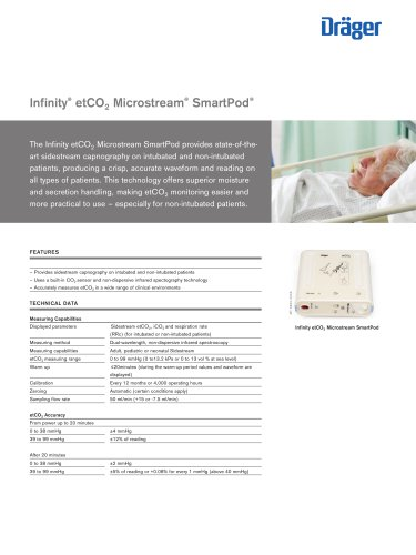 Infinity® etCO2 Microstream® SmartPod®