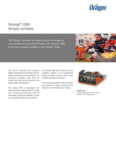 Transport ventilator Oxylog 1000 - EN